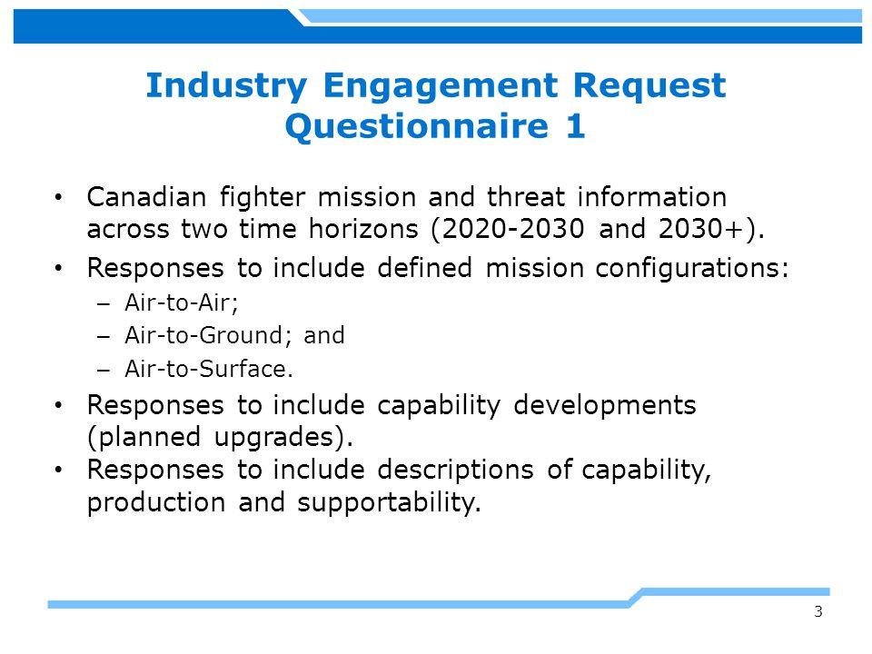 Industry Engagement Request Questionnaire 1