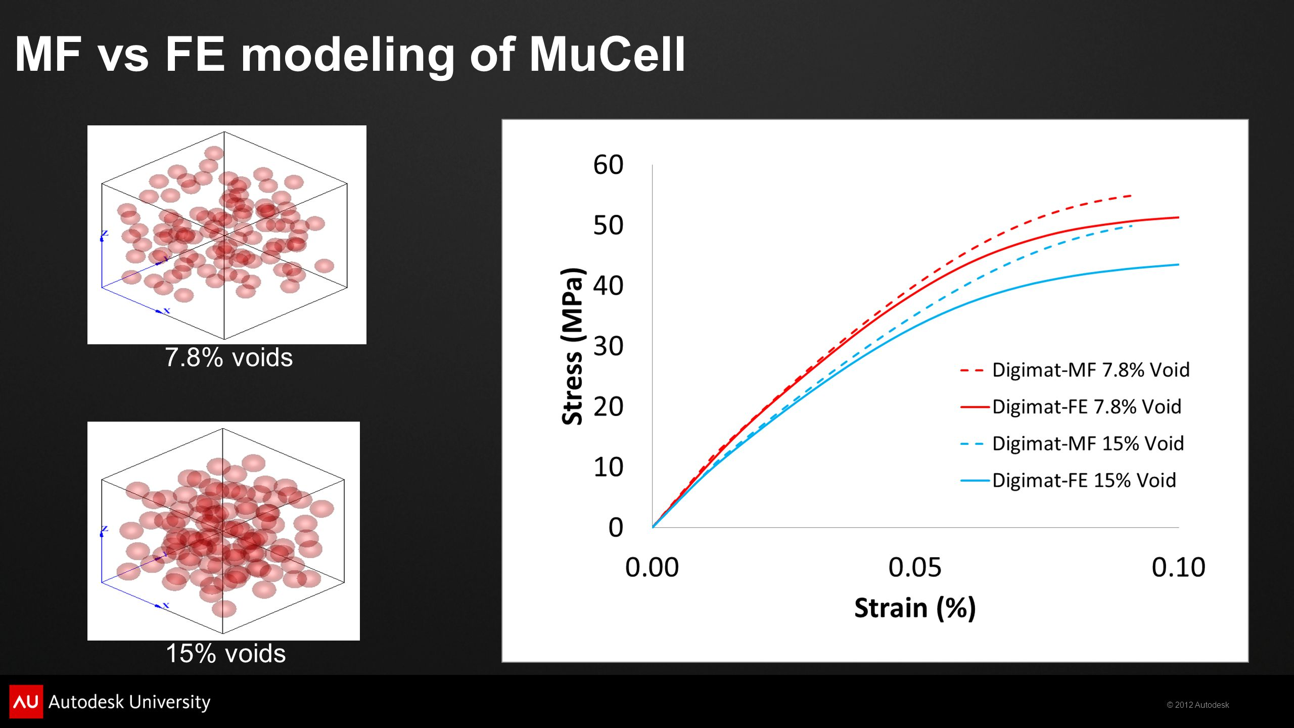 MF vs FE modeling of MuCell