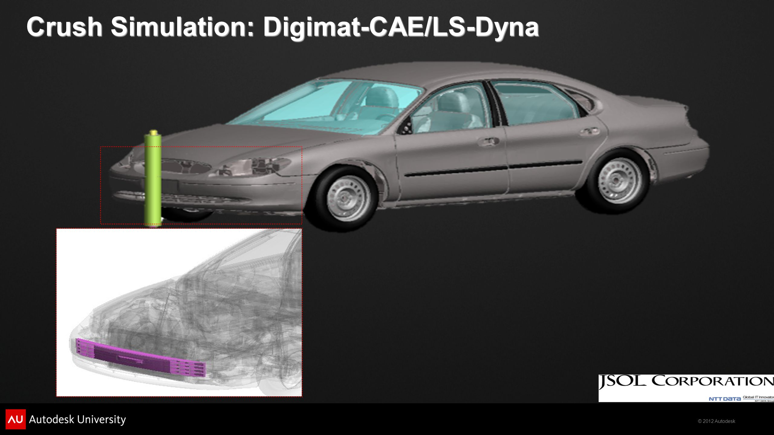 Crush Simulation: Digimat-CAE/LS-Dyna