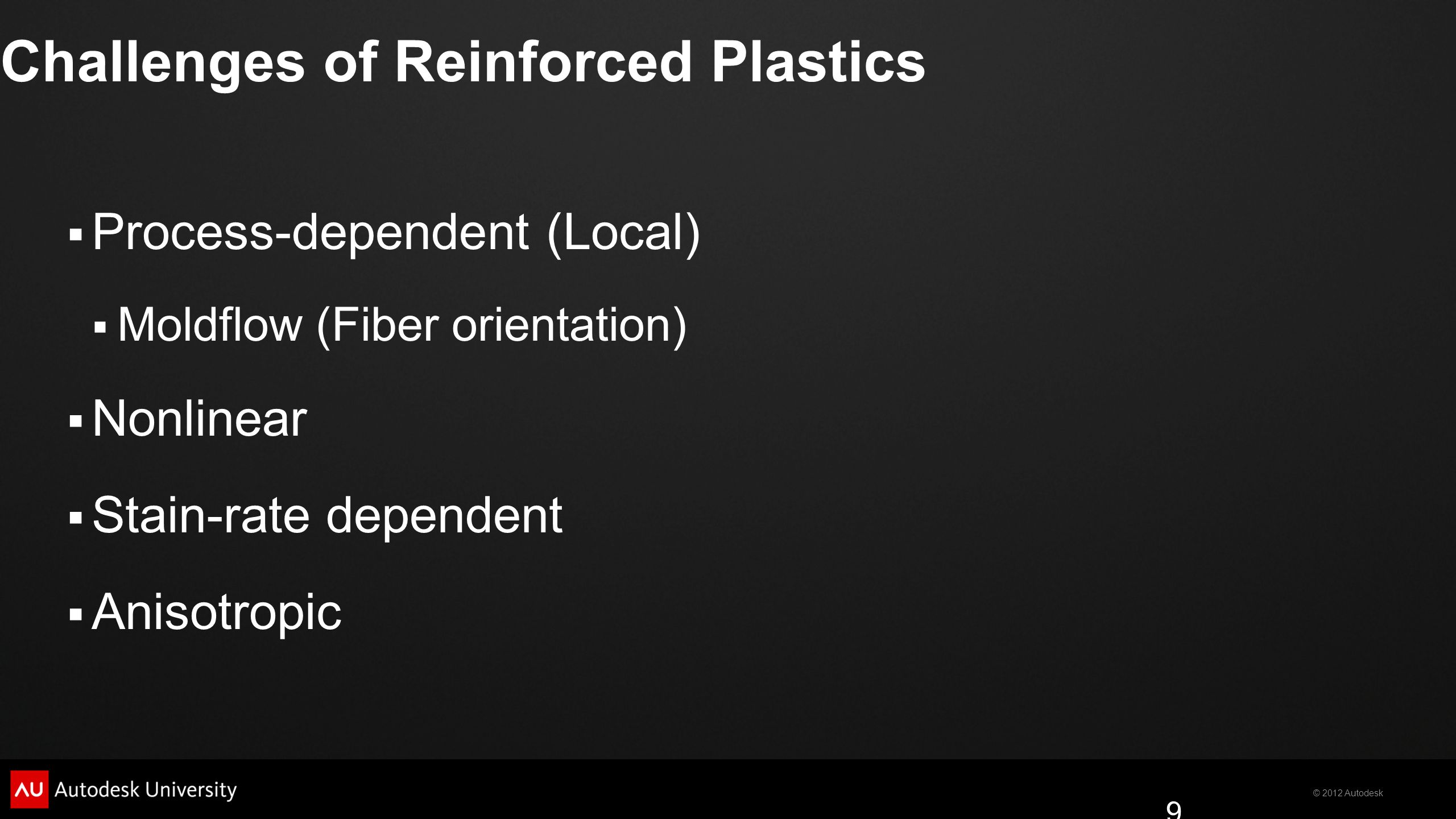 Challenges of Reinforced Plastics