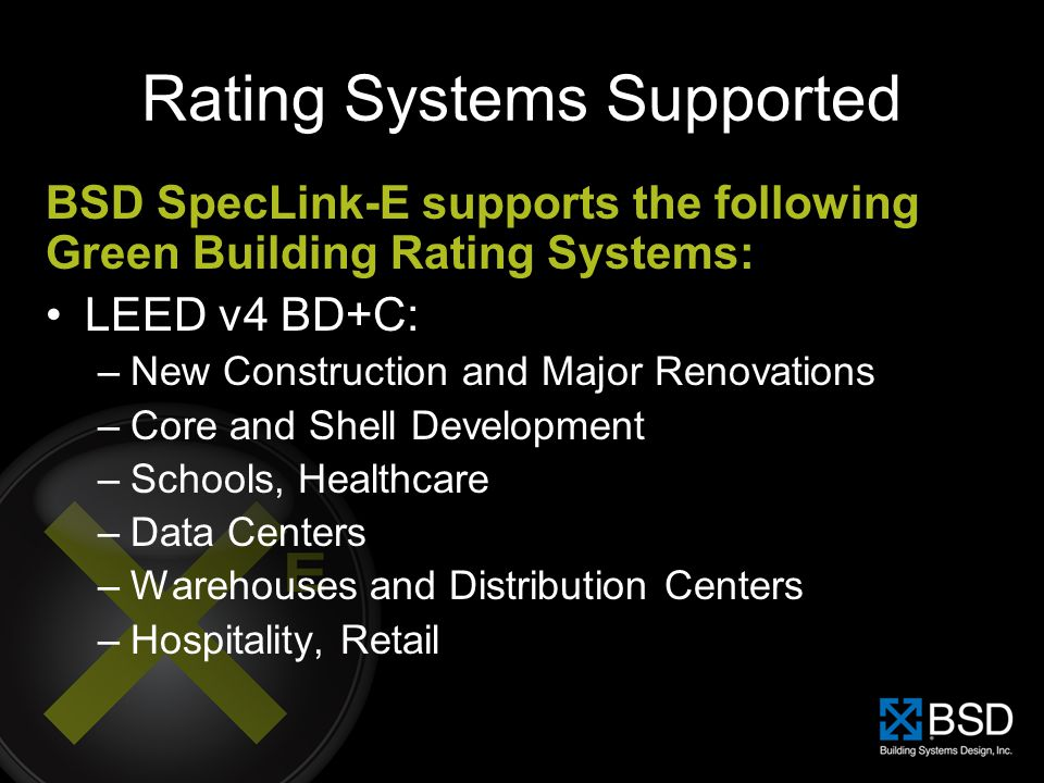 Rating Systems Supported