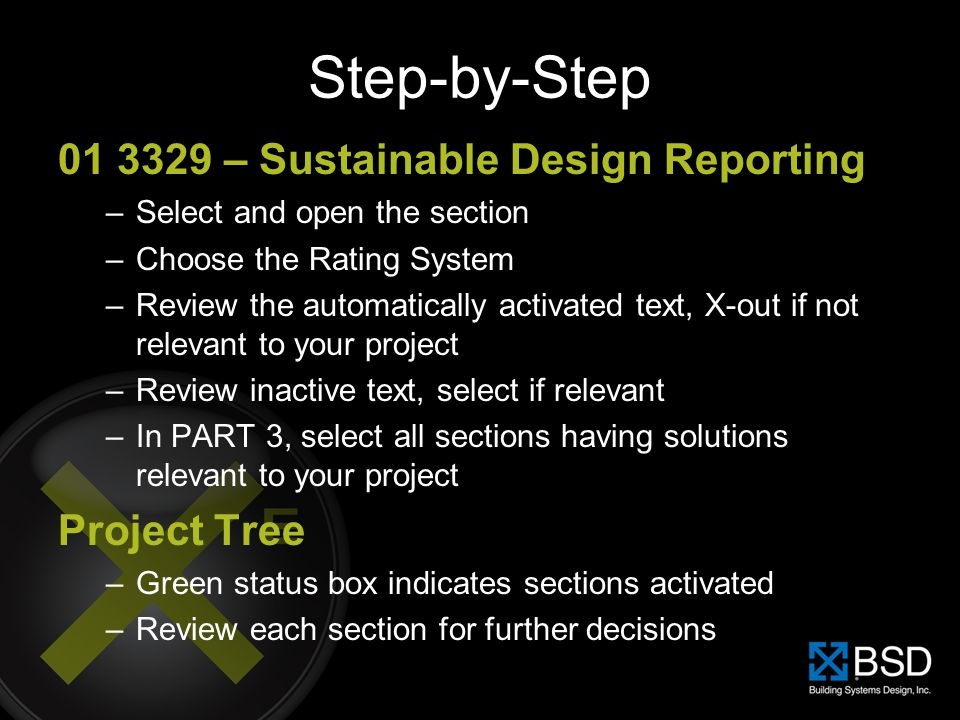 Step-by-Step 01 3329 – Sustainable Design Reporting Project Tree