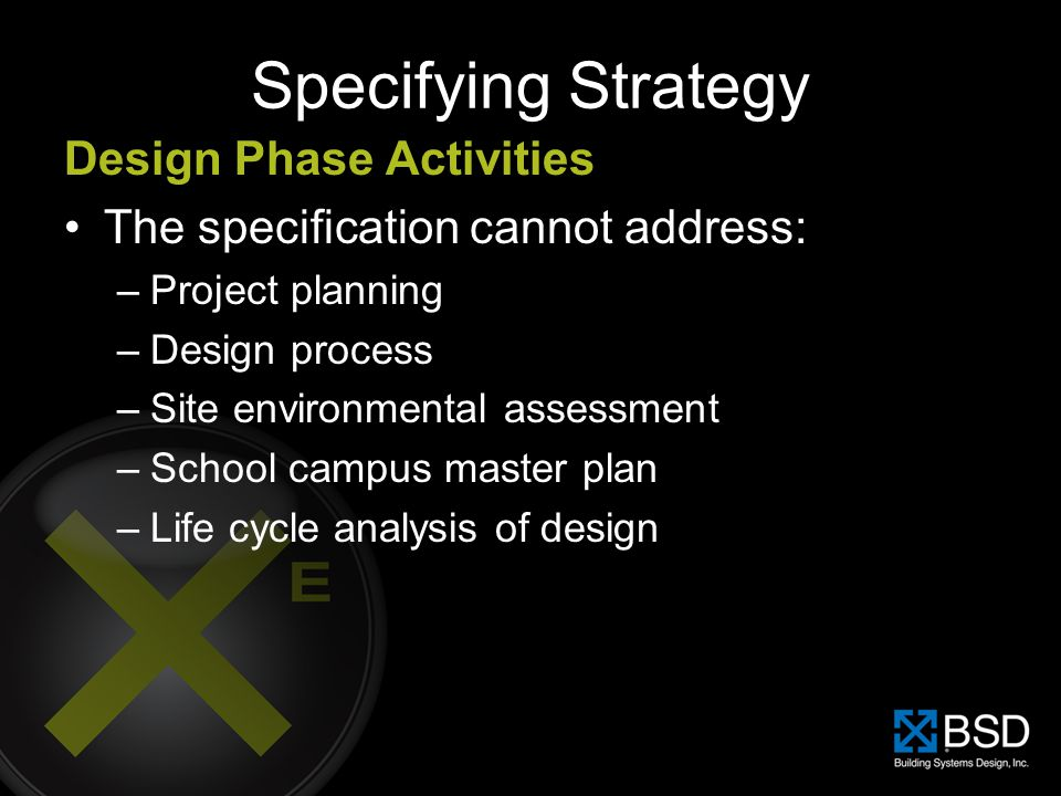 Specifying Strategy Design Phase Activities