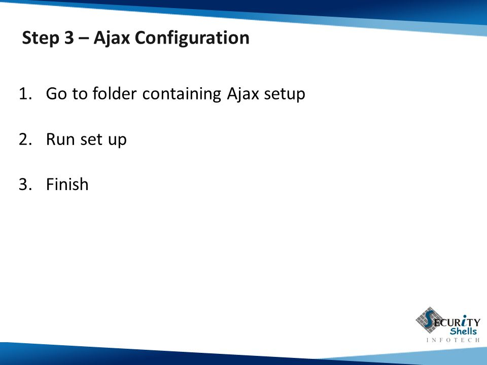 Step 3 – Ajax Configuration