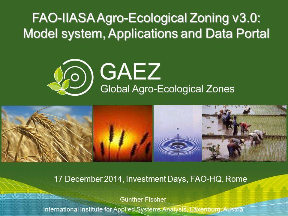 FAO-IIASA Agro-Ecological Zoning v3