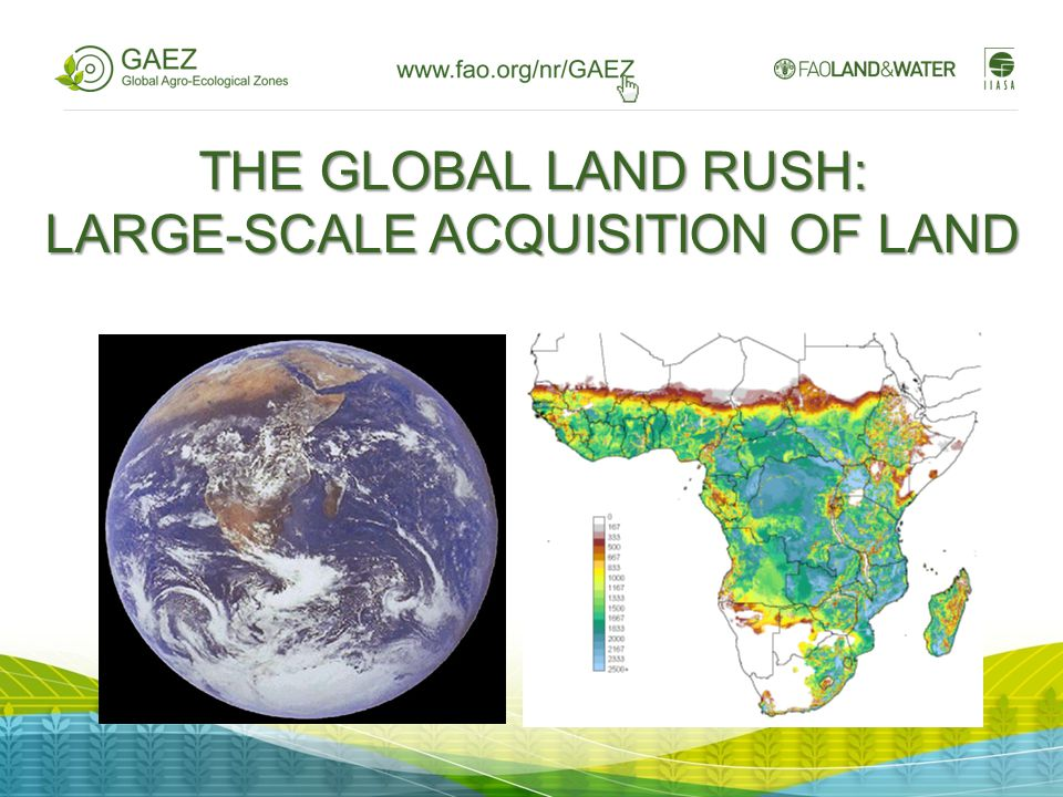 THE GLOBAL LAND RUSH: LARGE-SCALE ACQUISITION OF LAND