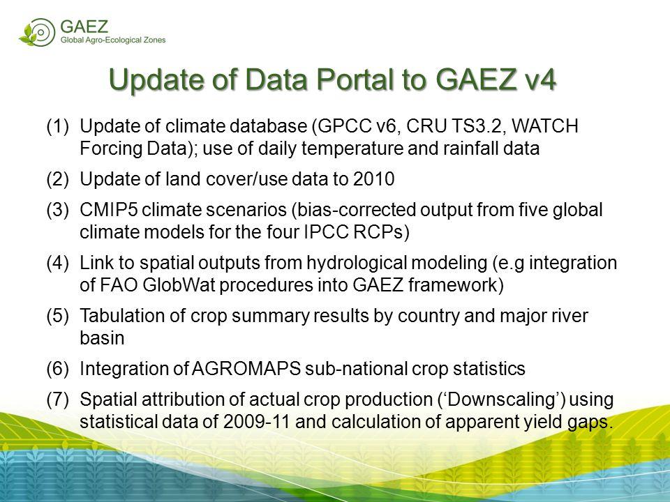 Update of Data Portal to GAEZ v4