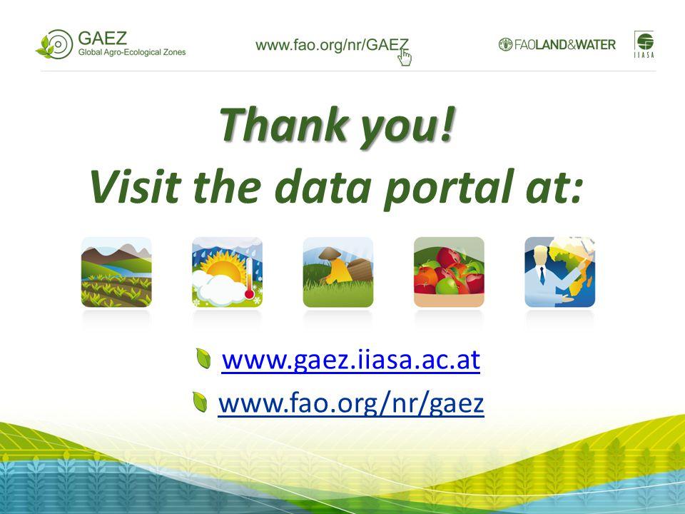 Thank you! Visit the data portal at: