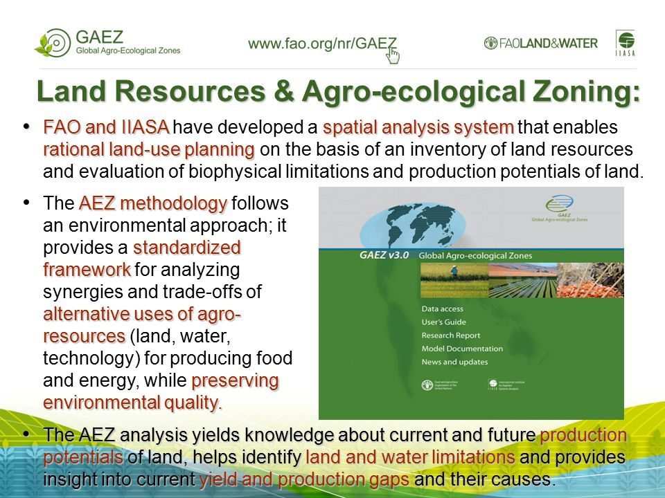 Land Resources & Agro-ecological Zoning: