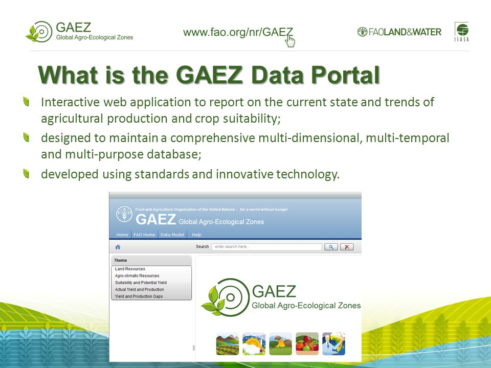What is the GAEZ Data Portal