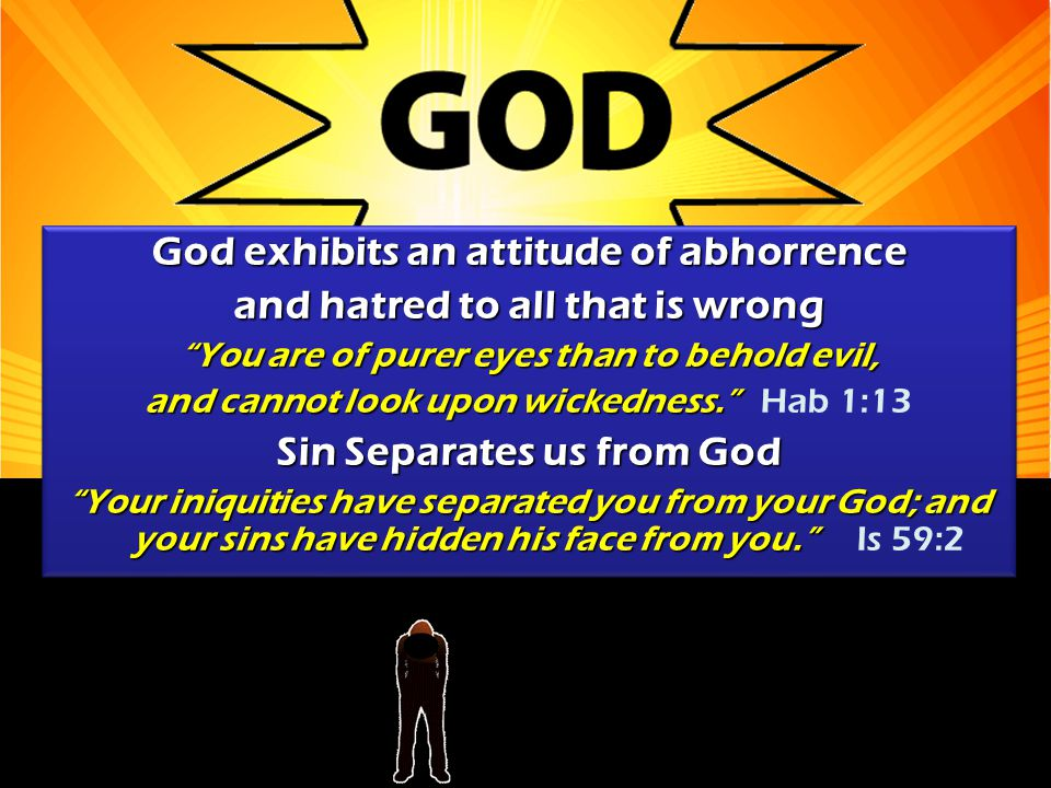 God exhibits an attitude of abhorrence and hatred to all that is wrong