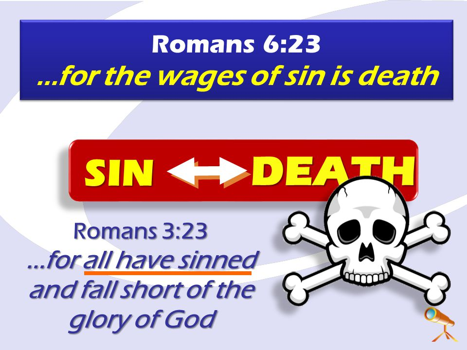Romans 3:23 ...for all have sinned and fall short of the glory of God