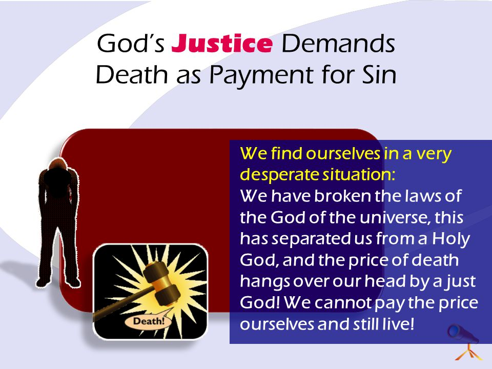 God's Justice Demands Death as Payment for Sin