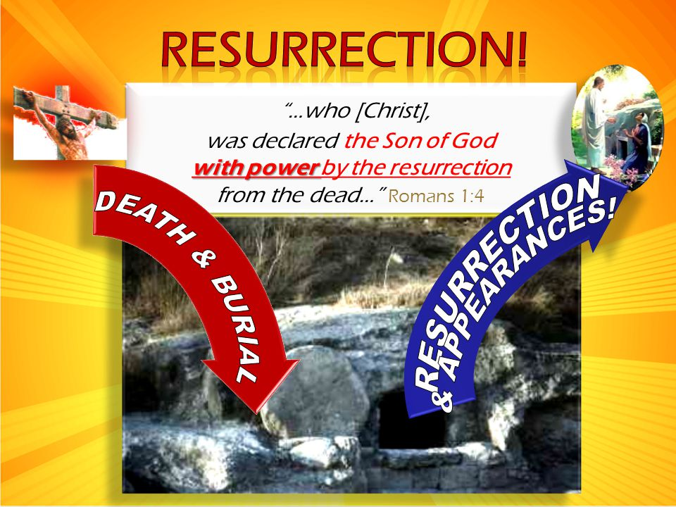 with power by the resurrection