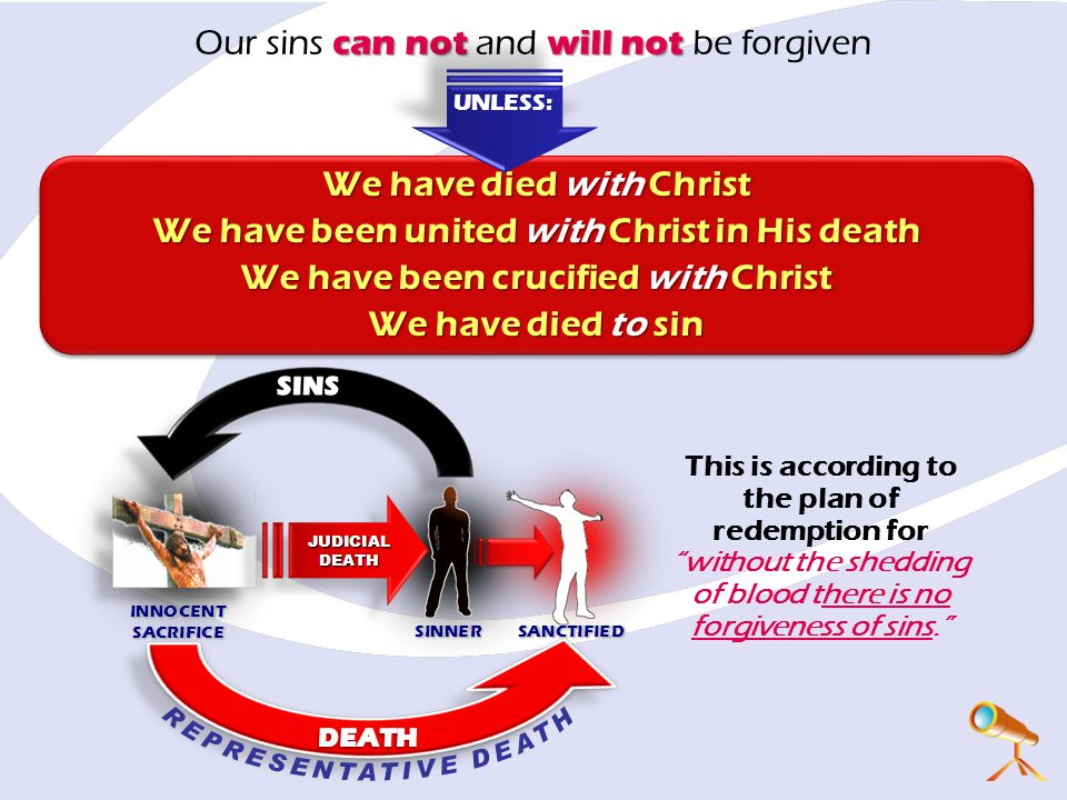 Our sins can not and will not be forgiven
