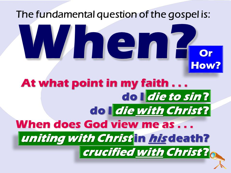 The fundamental question of the gospel is: