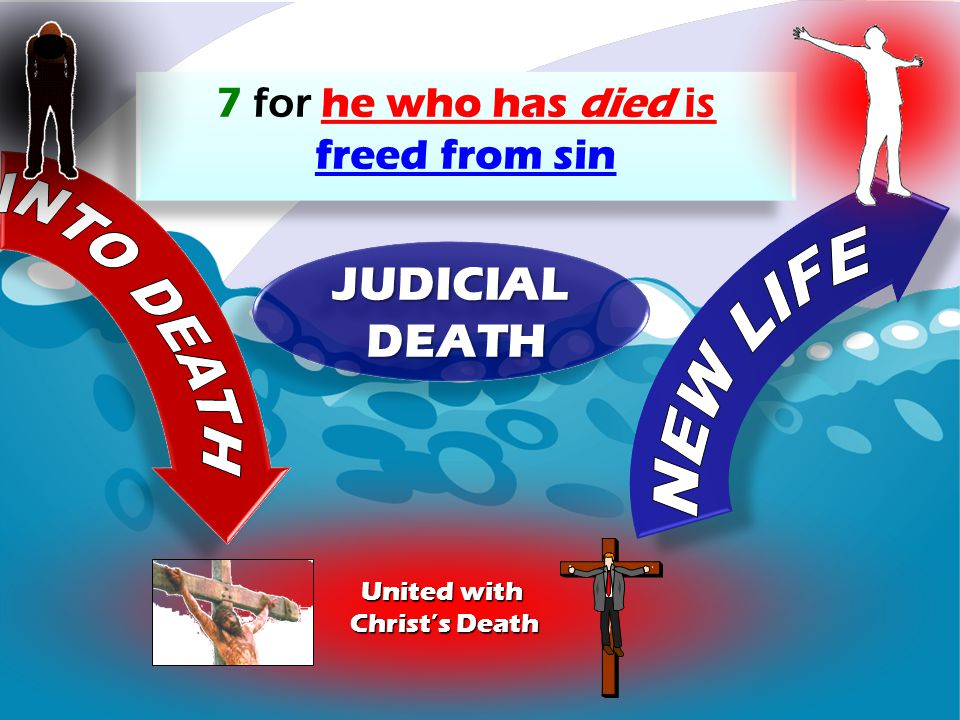JUDICIAL DEATH NEW LIFE 7 for he who has died is freed from sin