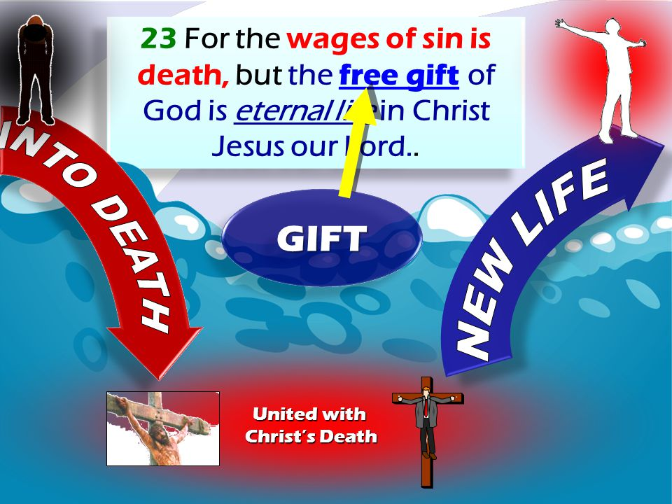 23 For the wages of sin is death, but the free gift of God is eternal life in Christ Jesus our Lord..