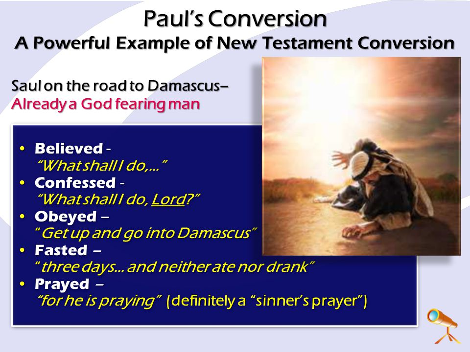 Paul's Conversion A Powerful Example of New Testament Conversion