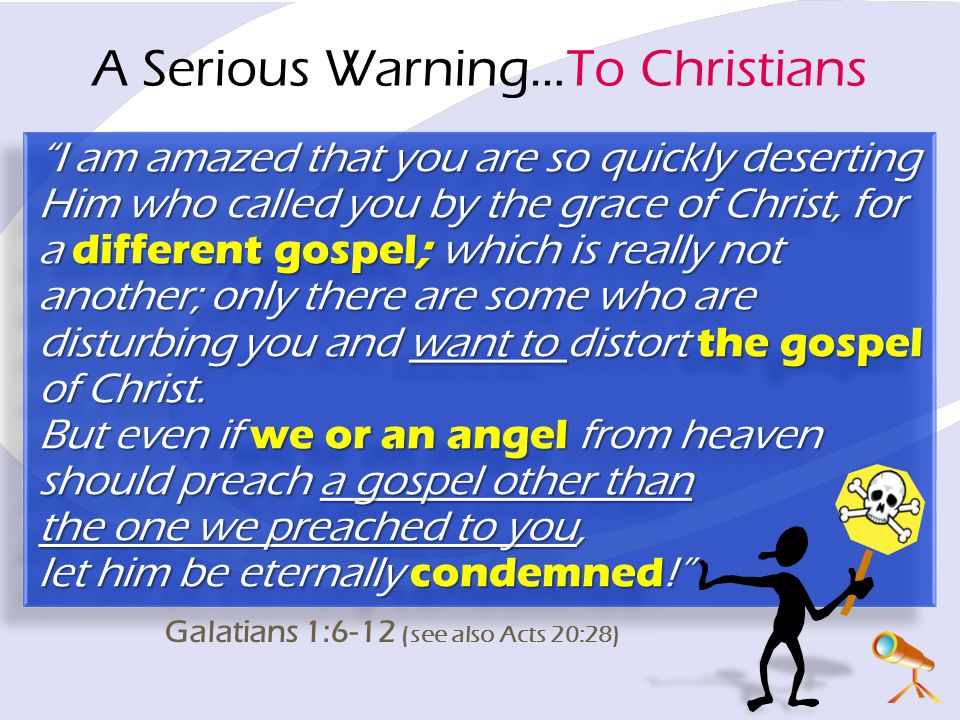 A Serious Warning…To Christians