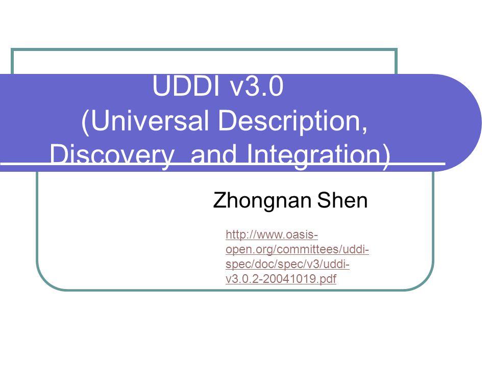 UDDI v3.0 (Universal Description, Discovery and Integration)