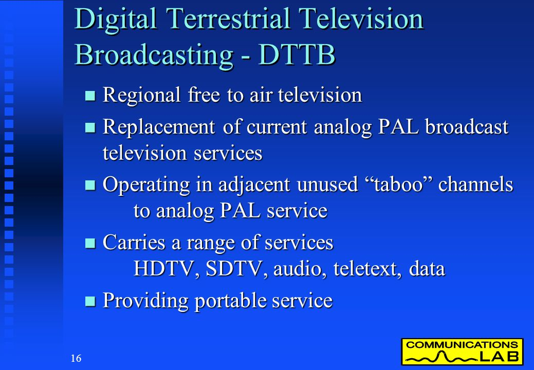 Digital Terrestrial Television Broadcasting - DTTB