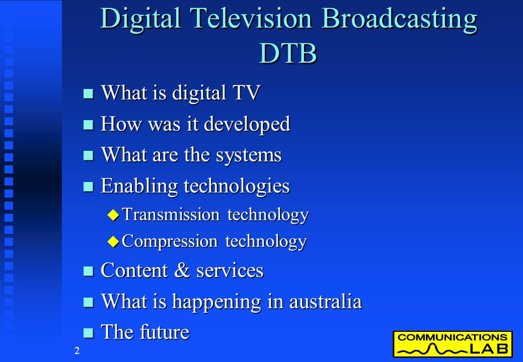 Digital Television Broadcasting DTB