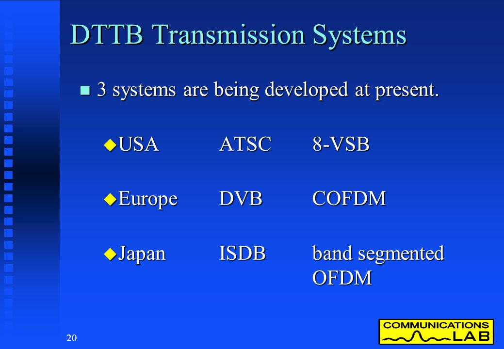 DTTB Transmission Systems