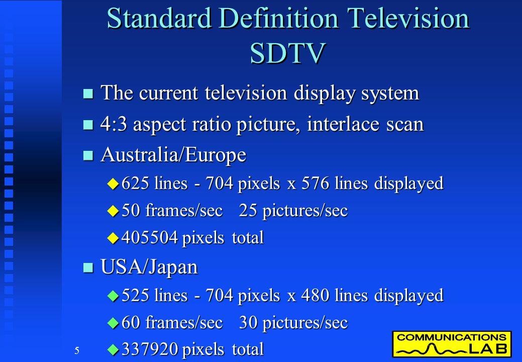 Standard Definition Television SDTV