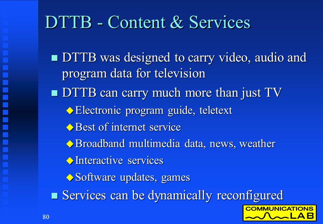 DTTB - Content & Services