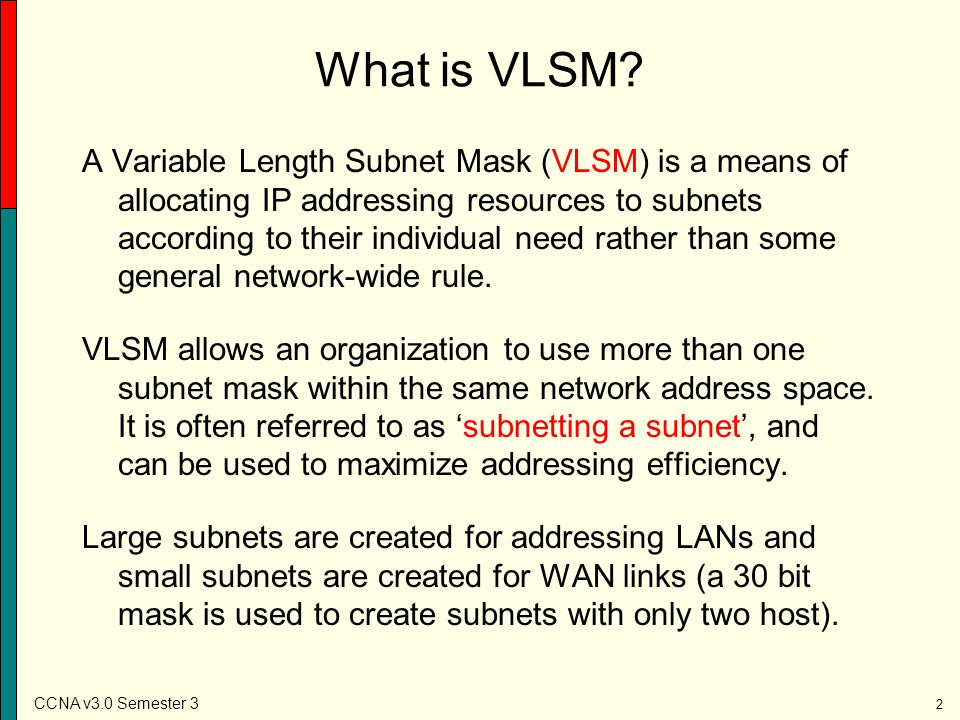 What is VLSM