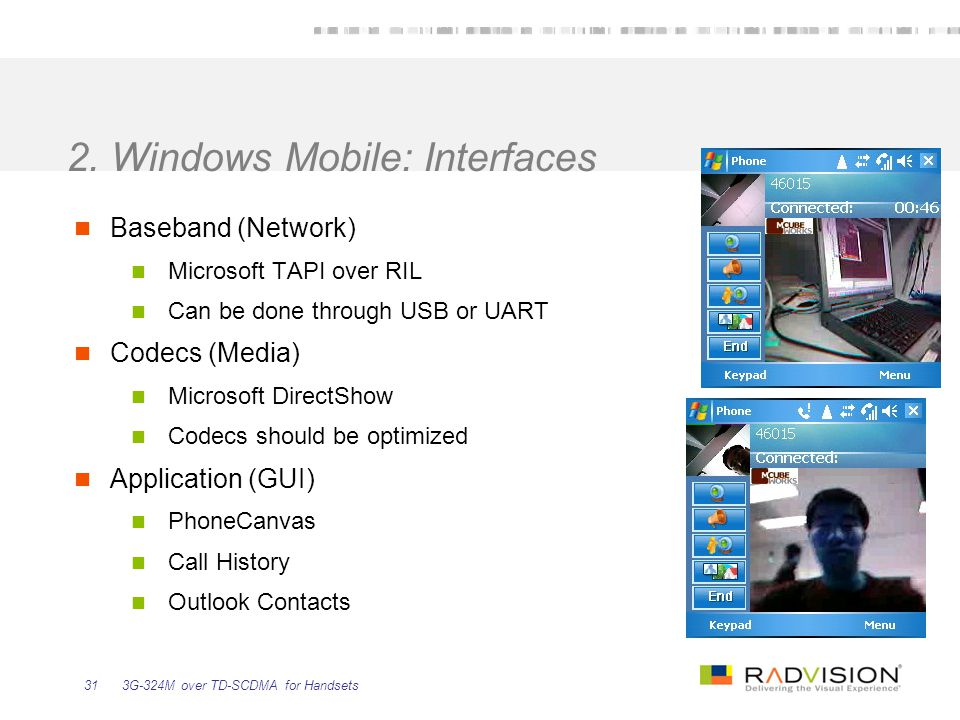 2. Windows Mobile: Interfaces