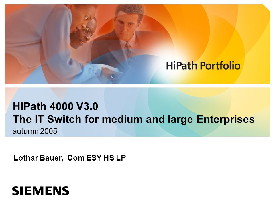 HiPath 4000 V3.0 The IT Switch for medium and large Enterprises