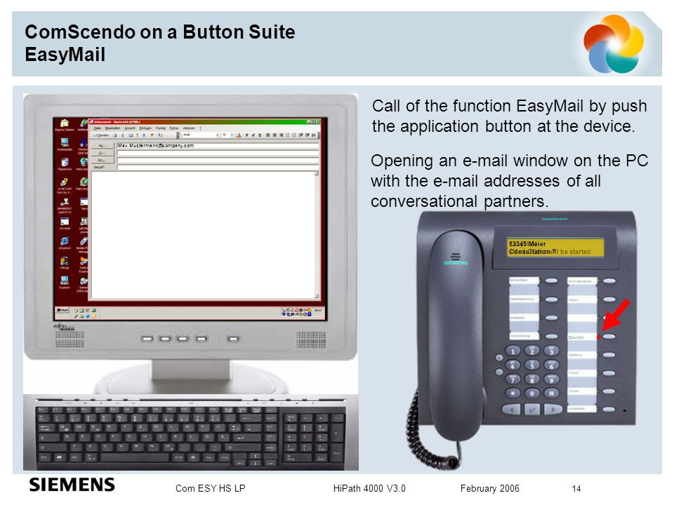 ComScendo on a Button Suite EasyMail
