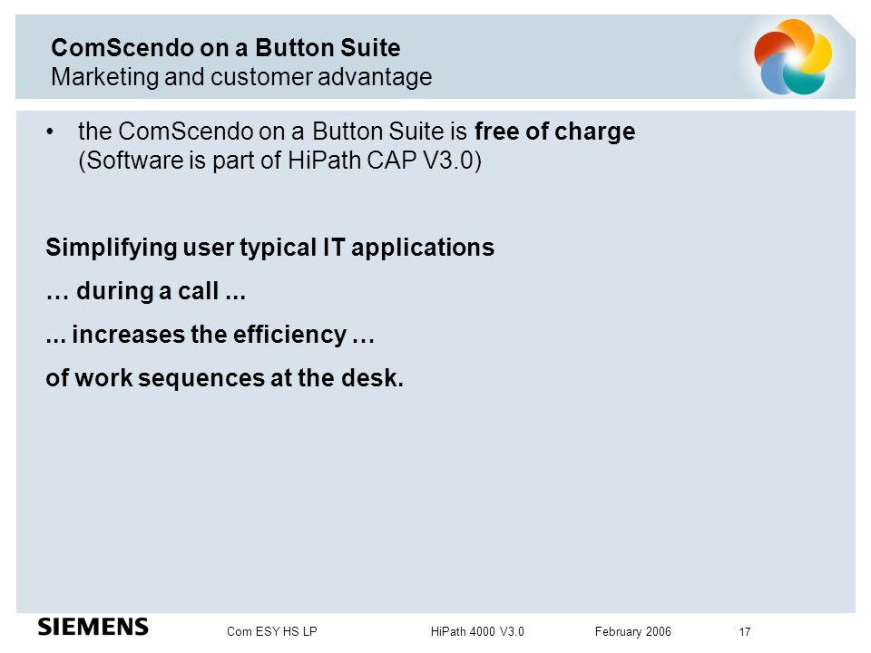 ComScendo on a Button Suite Marketing and customer advantage