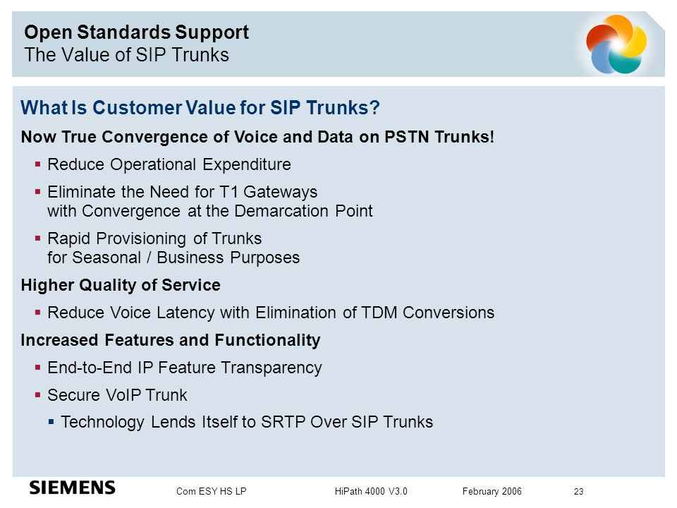Open Standards Support The Value of SIP Trunks