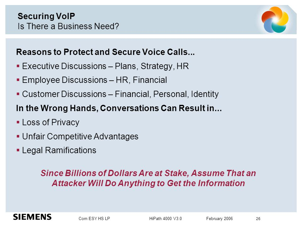 Securing VoIP Is There a Business Need