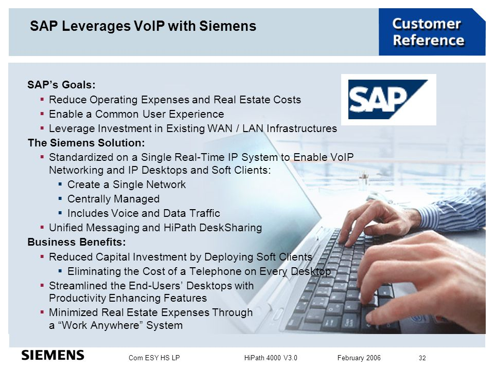 SAP Leverages VoIP with Siemens