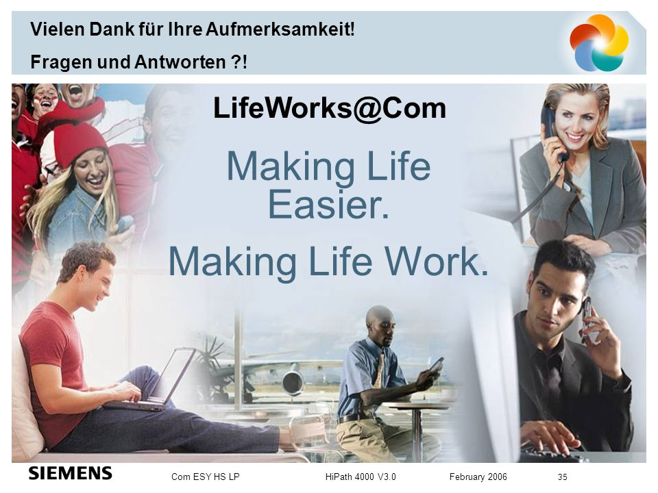 Making Life Easier. Making Life Work. LifeWorks@Com