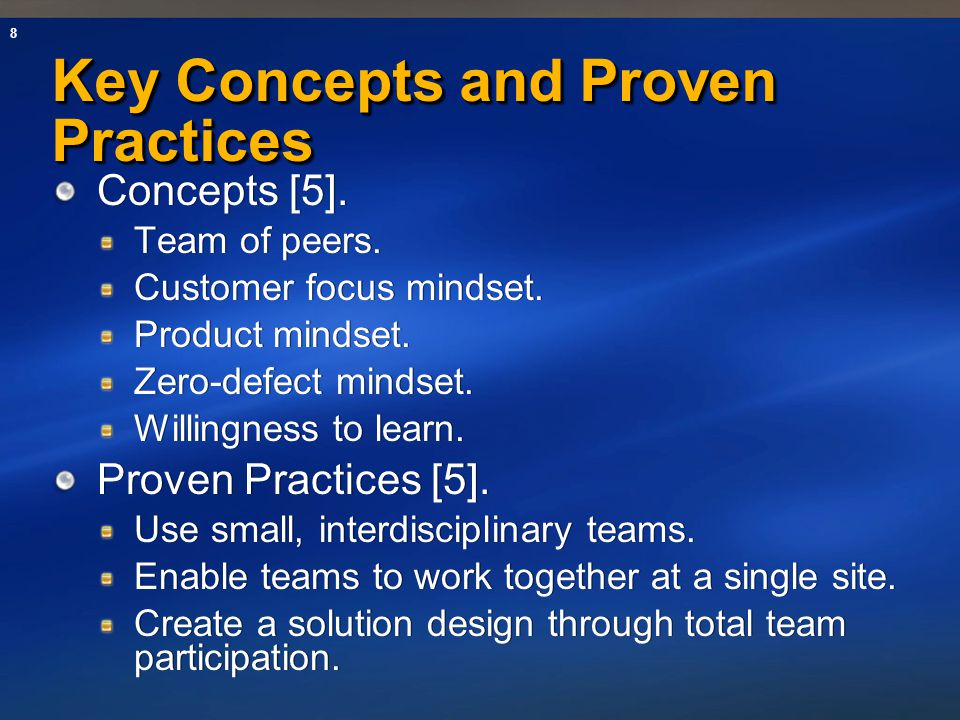 Key Concepts and Proven Practices