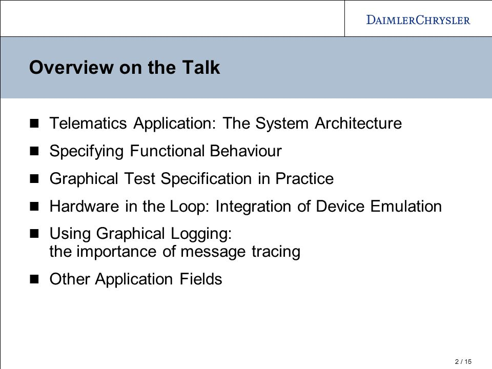 Overview on the Talk Telematics Application: The System Architecture