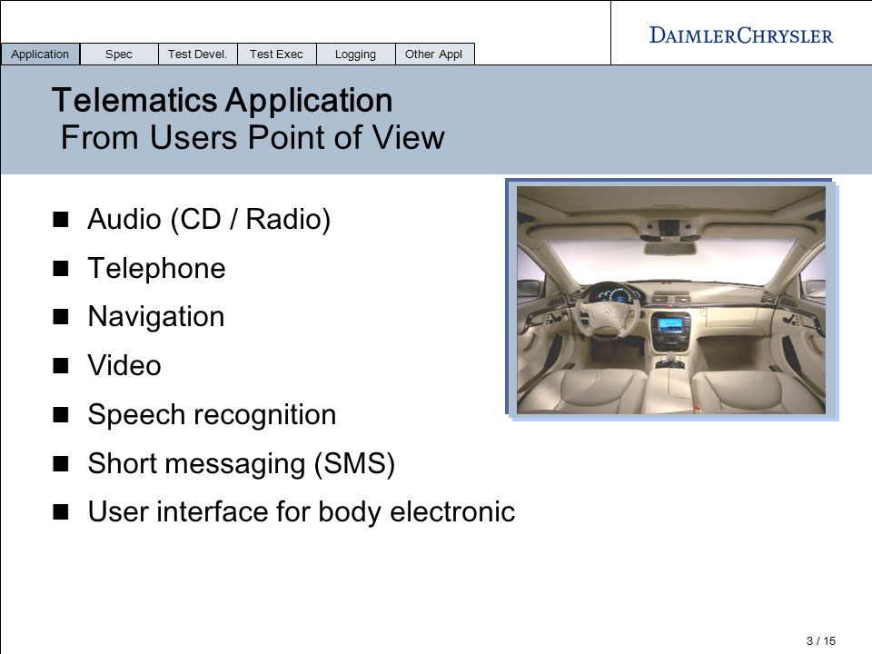Telematics Application From Users Point of View