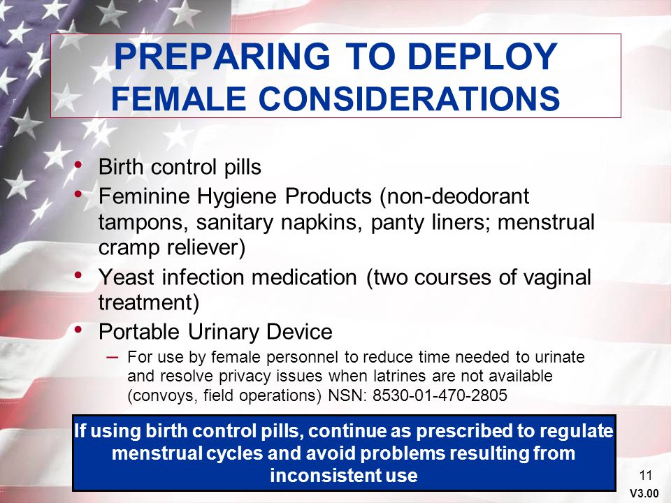 PREPARING TO DEPLOY FEMALE CONSIDERATIONS
