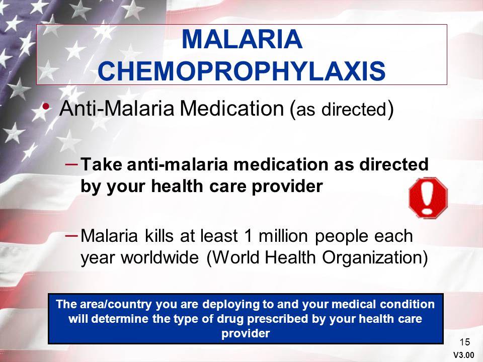 MALARIA CHEMOPROPHYLAXIS