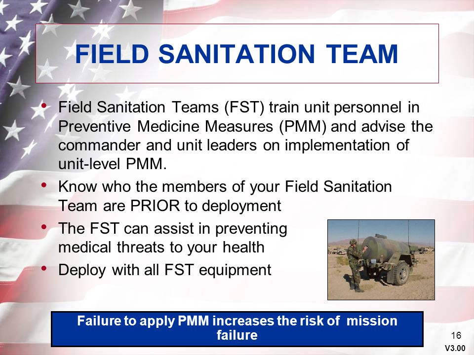 Failure to apply PMM increases the risk of mission failure