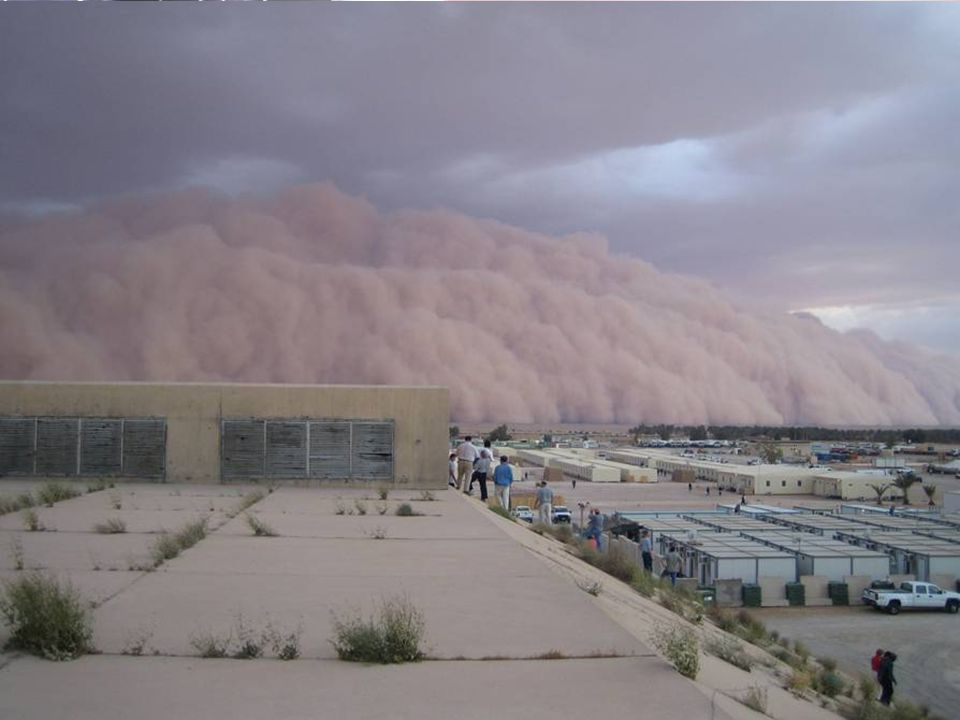 Sand Storm about to consume a camp.