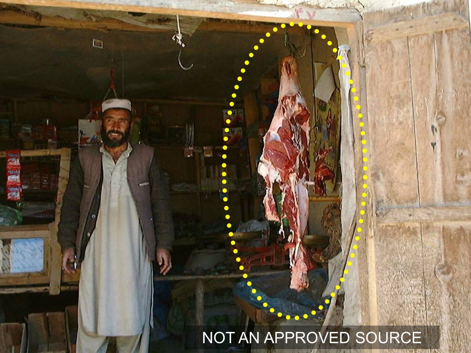 Hanging meat – unknown location