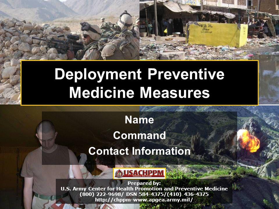 Deployment Preventive Medicine Measures