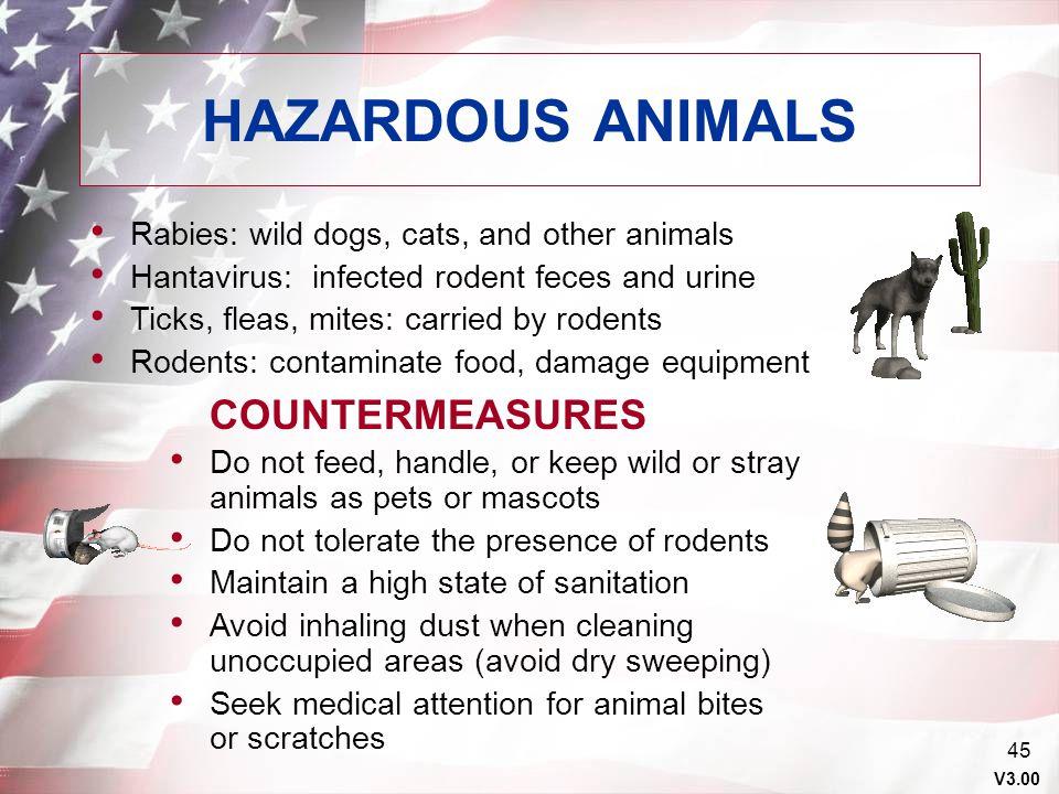 HAZARDOUS ANIMALS COUNTERMEASURES