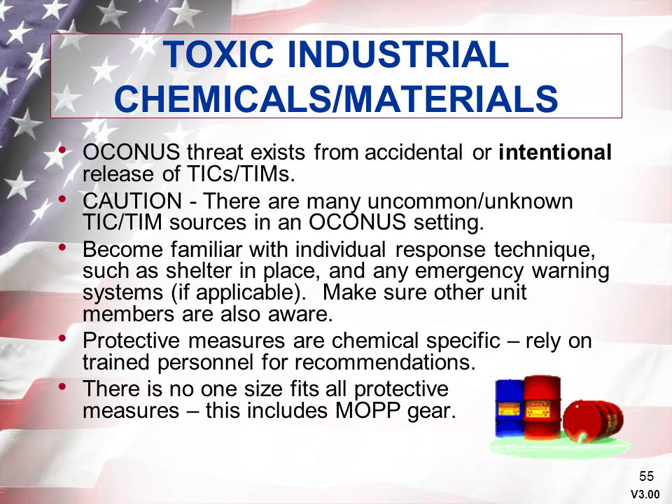 TOXIC INDUSTRIAL CHEMICALS/MATERIALS
